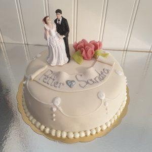 Bröllopstårta med princessfyllning