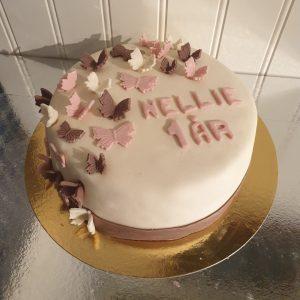 Tårta med fjärilar