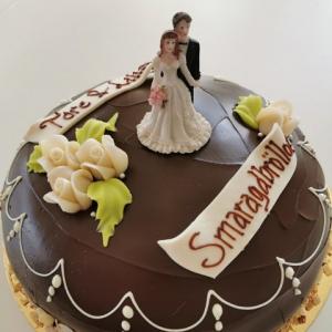 Smaragdbröllopstårta