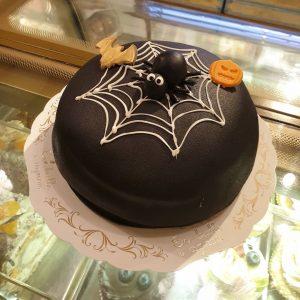 Halloween spindel-tårta