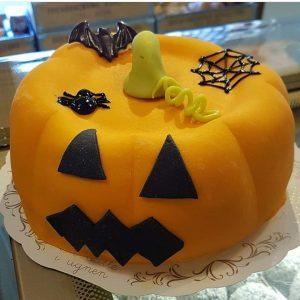 Halloween pumpa-tårta